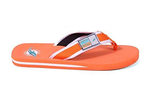 Forever Samle Offisielt Lisensiert Nfl Kontur Flip Flops - Happy Feet Og Behagelige Føtter Miami Dolphins