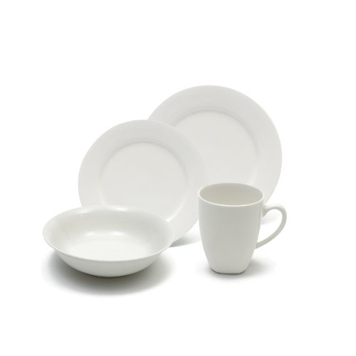 Maxwell and Williams Basics 16-Piece Soho Dinner Set, White