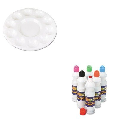 KITCKC2400CKC5924 - Value Kit - Chenille Kraft Round Plastic Paint Trays for Classroom (CKC5924) and Creativity Street Sponge Paint Set (CKC2400) by Chenille Kraft