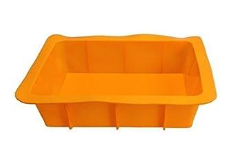 Auflaufform XXL Silikonbackform Lasagneform Kastenform Backform Kuchenform Brotbackform K/önigskuchenform orange
