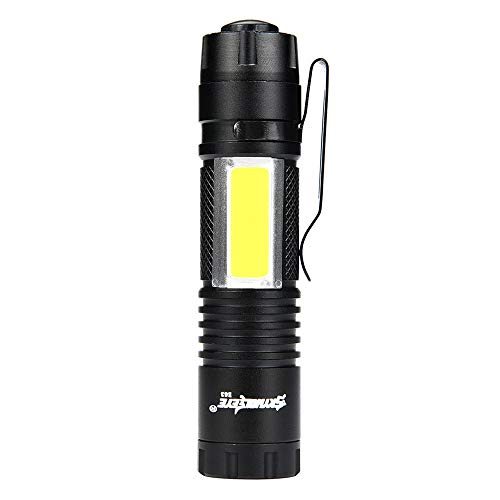 Handheld Military Mini Tactical Flashlight, Rechargeable High Lumens 5000lm XM-L T6 LED Flashlights Set with Clip for Hiking Camping Emergency Christmas Gifts for Kids, Tactical Lights (blac)