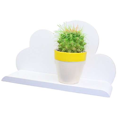lieomo Floating Shelves Wall Mounted, White Cloud Shelve Wall Storage Shelves for Bedroom, Living Room, Bathroom, Kitchen, Office and More