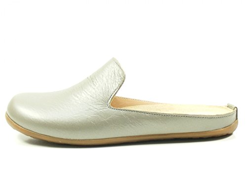 Haflinger Scarlett Rose Open Women's Grau Slippers Back xOOqfwa10