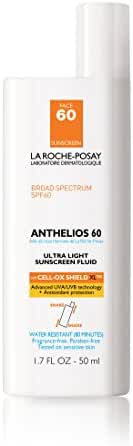 La Roche-Posay Anthelios 60 Face Sunscreen, Ultra-Light Fluid SPF 60 with Antioxidants, 1.7 Fl. Oz.