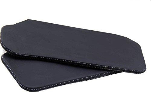 Autoguru Chevrolet Camaro Firebird Sunvisor Set Synthetic Leather Cover Black, Gray Stitchfor 93-02