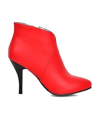 Trabajo 5 Ante Uk4 De Vestido Zapatos Stiletto negro 5 5 Puntiagudos 7 Casual Cn37 Xzz Sintético Botas Red Eu37 Noche Y us6 Fiesta Mujer Tacón Oficina q6fAnxzH