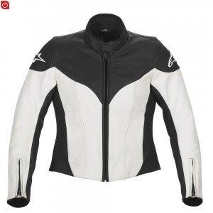 Alpinestars Stella Ice Chaqueta de piel, talla XL), color blanco: Amazon.es: Coche y moto