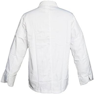 Chaqueta casaca de cocinero de algodón blanca con botones, uniforme clásico, de XS a XXL, bianco, L: Amazon.es: Deportes y aire libre