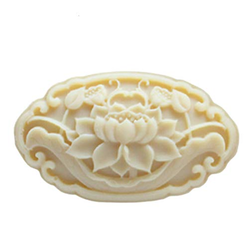 - Grainrain Oval Shaped Flower Mold Lotus Handcrafted Soap Mold Silicone Candle Resin Mould