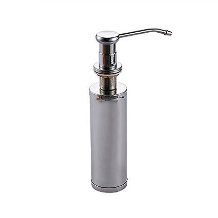 tougmoo cromo 220 ml acero inoxidable fregadero de cocina dispensador de jabón líquido resistir óxido cocina