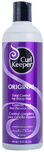 CURLY HAIR SOLUTION Curl Keeper Original - Total Control In All Weather Conditions For Well Defined, Frizz-Free Curls With No Product Build Up (12 Ounce / 355 Milliliter)