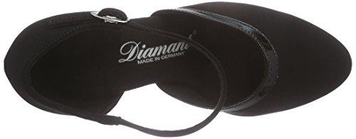 Diamant Diamant Damen Tanzschuhe 049-106-106 - Zapatillas de Baila Moderno y Jazz Mujer Negro (Negro)