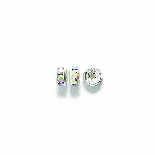 Aurora Borealis Shimmers (Preciosa Rhinestone Rondelle Beads, 5mm, Crystal Aurora Borealis, 48-Pack)