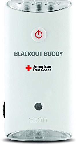 - American Red Cross Blackout Buddy the Emergency LED Flashlight, Blackout Alert and Nightlight, Lights Up Automatically When There is a Power Failure, ARCBB200W-SNG