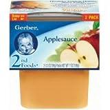 gerber baby food case of 8 - Gerber 2nd Foods Applesauce, 7 Ounce -- 8 per case.