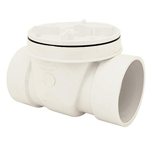 Canplas 73009 Backwater Valve with 4-Inch PVC, White