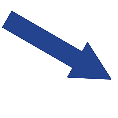 ifloortape Blue Arrow | Premium Heavy Duty | Warehouse Traffic Floor Marker | 10 inch (Pack of 6) ()