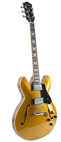 Firefly FF338 Semi Hollowbody Guitar (Gold).