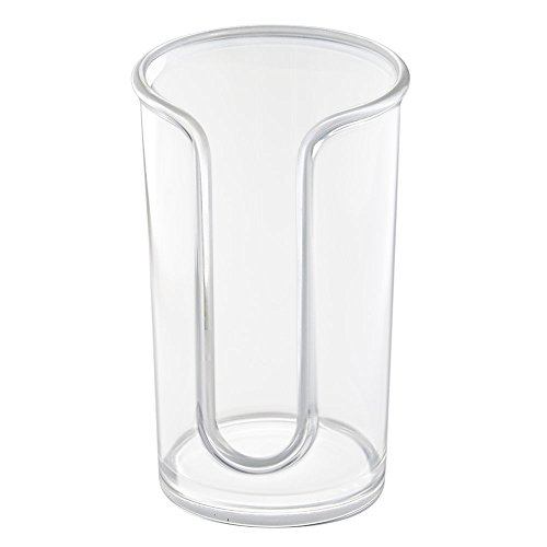 - InterDesign Clarity Plastic Disposable Paper Cup Dispenser Holder for Master, Guest, Kids' Bathroom Vanity and Countertops, 3