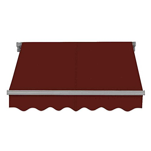 ADVANING 14'X10' Manual Patio Retractable Awning | SG Series | Premium Quality, 100% Solution-Dyed UV80+ Sun Shade, Color: Burgundy, MA1410-A108NG
