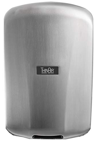 Excel Dryer TA-SB Automatic, Surface-Mounted, ADA-Compliant Conventional Hand Dryer, Brushed Stainless Steel Cover, 110-120V 50/60 Hz