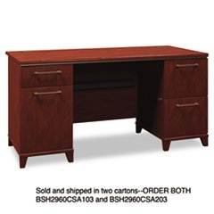 BSH2960CSA203 Double Ped. Desk,60x28-1/2x29-5/8,Box 2/2,Harvest CY (Ped Desk)