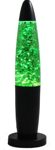 Creative Motion Black Base Sparkle Lamp, 13-Inch, Green ()
