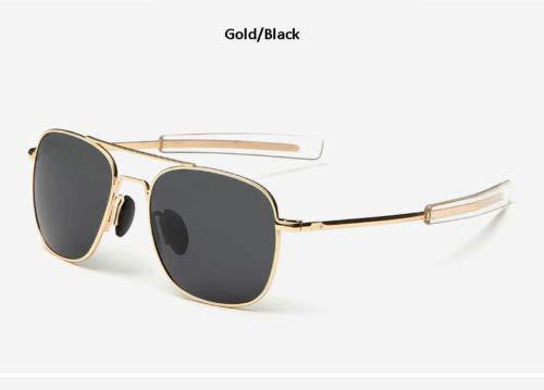 Army Pilot - USonline Polarized Sunglasses Men American Army Military Pilot Optical Sunglasses Gold