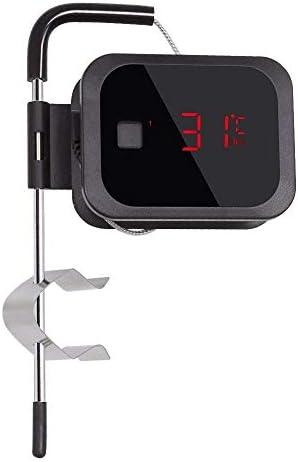 Inkbird Bluetooth 4.0 Grill IBT-2X Grill BBQ Kochthermometer Küche Fleischthermometer mit Temperaturalarm, Schwarz (IBT-2X + 1 Sonden)