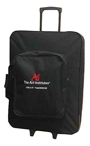 Canvas Rolling Art Portfolio with Removable Front Pouch/Duffel Artist Case from The Art Institute