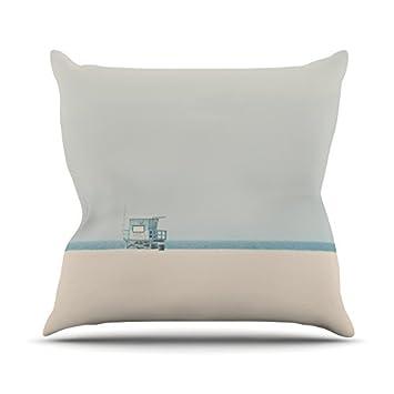 Kess InHouse Laura Evans Tower 17 Throw Pillow Coastal 18 x 18