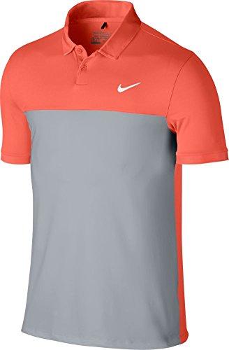 Nike Icon Color Block Polo-Large-Turf Orange/Wolf Grey