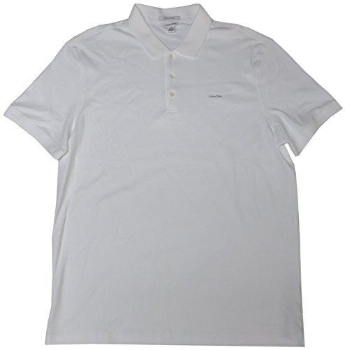 Calvin Klein Luster Wash - Calvin Klein Men's Lifestyle Shirt, Size Large, White