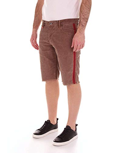 amp; Franklin Uomo Shorts Marshall Marrone Stmf473ans19brown Cotone a66q8dxw