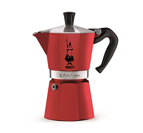 Bialetti 06857 Moka Express StoveTop Coffee Maker (Brushed Aluminum Silver, 6 Cup)