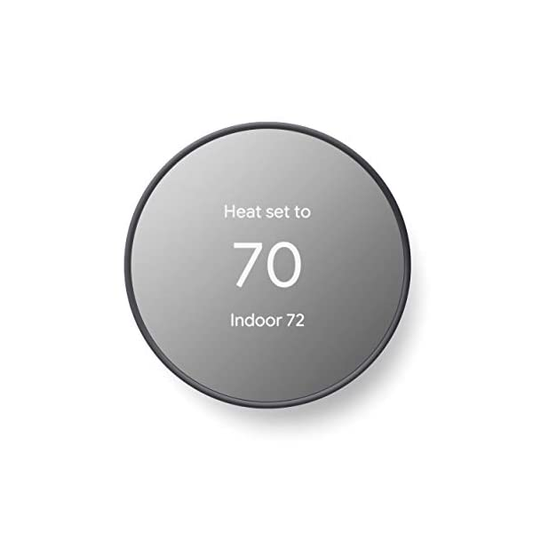 Google G4CVZ Nest Thermostat - Smart Thermostat for Home - Programmable Wifi Thermostat - Charcoal 1