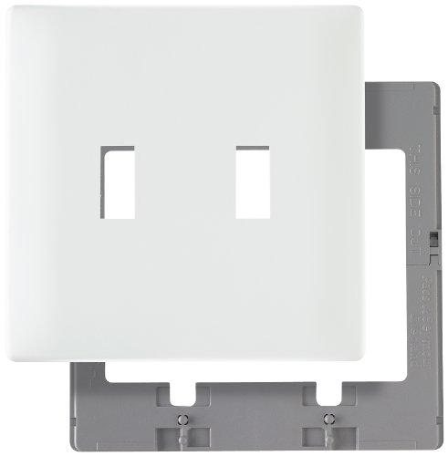 (Legrand - Pass & Seymour SWP2WCC10 Screwless Wallplate Plastic Sub Plate Two Gang, White)