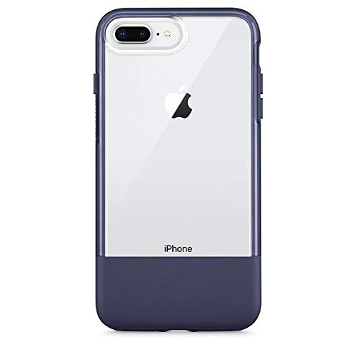 Otterbox Exclusive Bundle: Ultra-Slim Case for iPhone 8 Plus/7 Plus – Extreme Drop Protection - Premium Leather - Scratch Resistant - Manhattan Night + Bonus Clear Tempered Glass Screen Protector