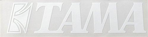 TAMA TLS100WH Logo Sticker, 50mm x 230mm, White