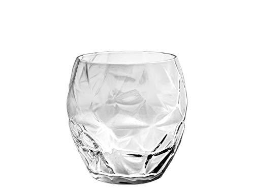Luigi Bormioli Prezioso Double Old Fashioned Glasses (Set of 4), 17 oz, Clear