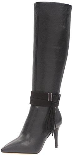 Nine West Women's Piselli Leather Combat Boot Black cR76oAe