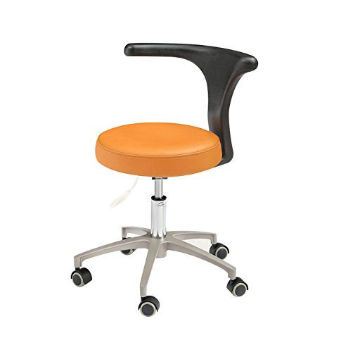 APHRODITE Deluxe Dental Mobile Chair Doctors Stool Micro Fiber Leather Seat Height Adjustment Durable Chair HS-2-Fiber - 2 Microfiber Stools