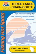 Three Lakes Chain South Section Fishing Map (Wisconsin Series, M208)