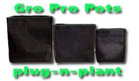 10 - Gro Pro 1/2 Gallon SQUARE Fabric Pot-BLACK Smart! Lot of 10 Pots