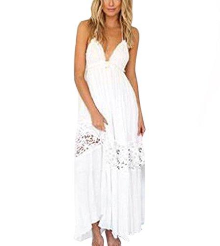 Price comparison product image Han Shi Bohemian Dress,  Women Empire Waist Casual Maxi Evening Party Beach Long Dress (M)