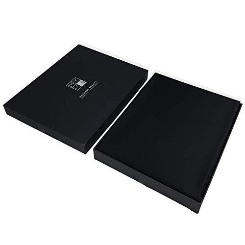 (MYK Silk Luxury Silk Bedding Sheet Seamless Flat Sheet Fitted Sheet Oeko-Tex Certified Hypoallergenic Gift Ready)
