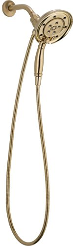 Delta 58471-CZ-PK H2Okinetic In2ition 4-Setting Two-in-One Handshower Showerhead, Champagne Bronze