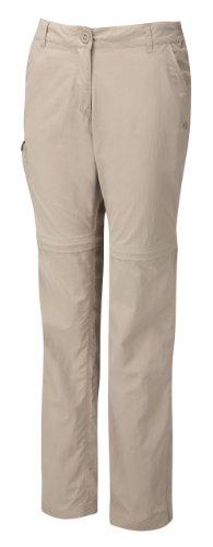 Womens Bug Shield Cargo (Craghoppers Women's Nosilife Convertible Trousers, Mushroom, 4-Short)
