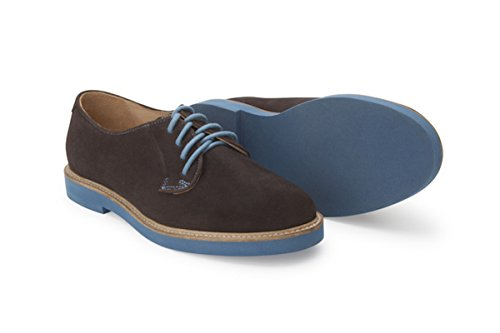Soul 36 Gracie 69 Suede Lace Up Oxfords (7, Brown) by Soul 36