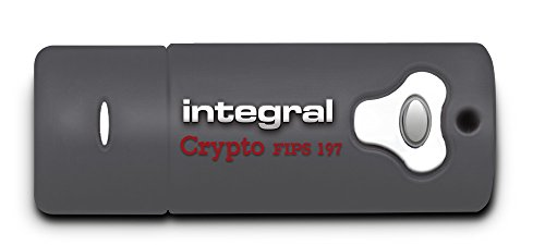 Integral 16GB Crypto Drive FIPS 197 Encrypted USB3.0 Flash Drive (AES 256-bit Hardware Encryption)
